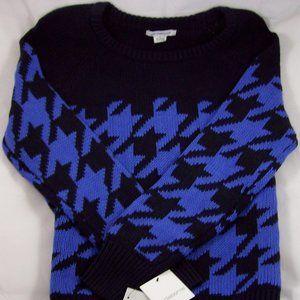 Liz Claiborne Navy Multi Sweater